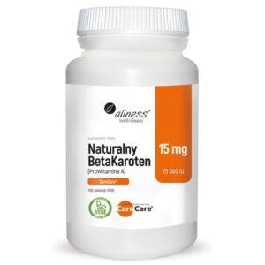 Naturalny BetaKaroten 15 mg (ProWitamina A25 000 IU) 100 tabletek vege