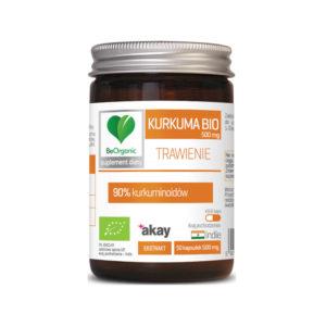 Kurkuma Bio 500mg 50 kapsułek Beorganic Medicaline 90% Kurkuminoidów